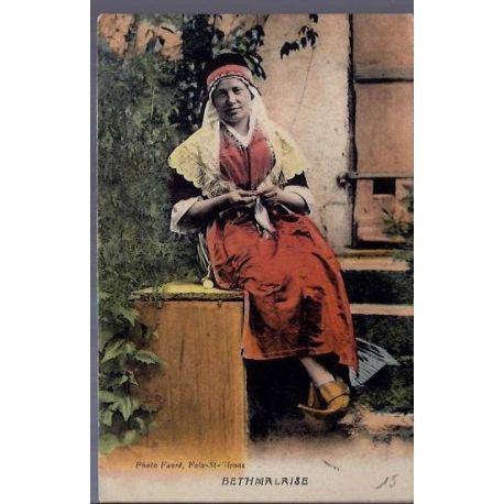Carte postale 09 - Foix-st-Girons - Bethmalaise - Femme en costume d'epoque -Voyage - Dos di