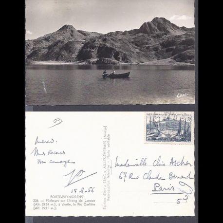 Carte postale 09 - Porte-Puymorens - Pecheurs sur l'etang de Lanoux - CPSM