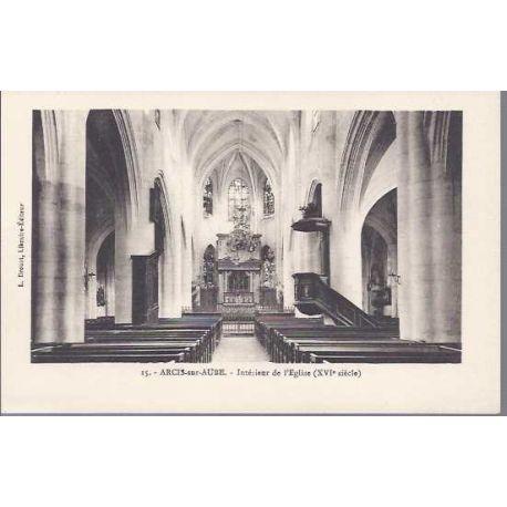 Carte postale 10 - Arcis sur aube - Interieur de l'eglise
