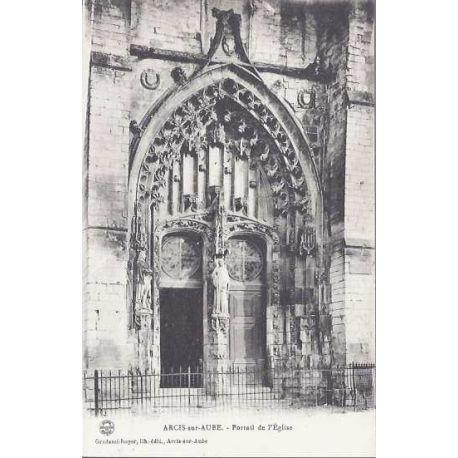 Carte postale 10 - Arcis sur Aube - Portail de l'eglise