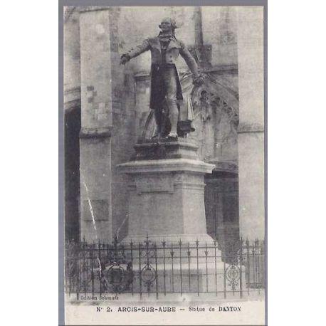 Carte postale 10 - Arcis sur Aube - Statue de Danton