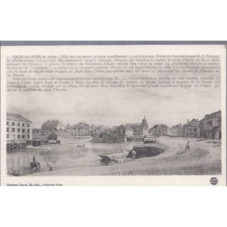 Carte postale 10 - Arcis sur Aube en 1829