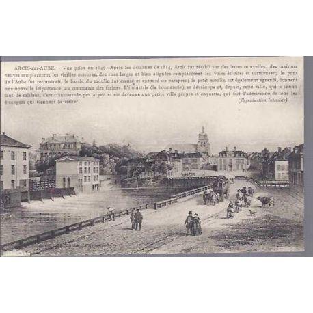 Carte postale 10 - Arcis sur Aube en 1848