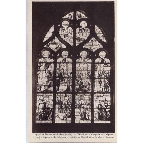 Carte postale 10 - Bar-sur-Seine - Eglise - Vitrail de la chapelle des vigniers - Non voya...