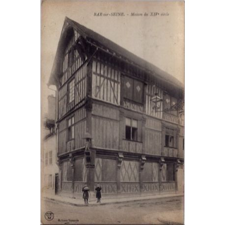 Carte postale 10 - Bar-sur-Seine - Maison du XIVeme siecle - Voyage - Dos divise...