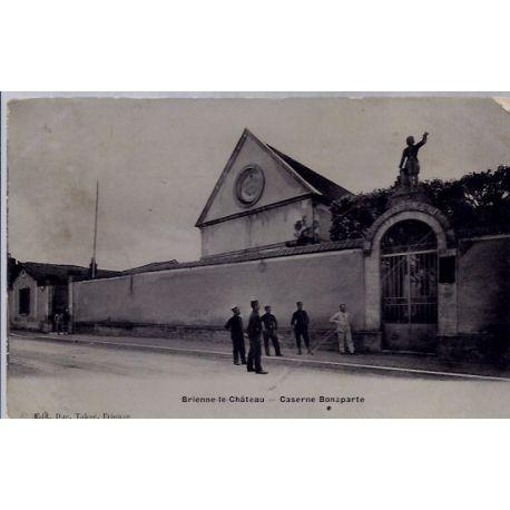 Carte postale 10 - Brienne le chateau - Caserne Bonaparte - Voyage - Dos divise...