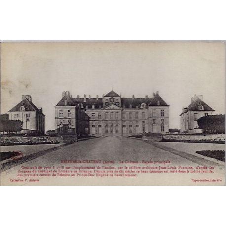 Carte postale 10 - Brienne-le-chateau - Le chateau - facade principale- Voyage - Dos divis...