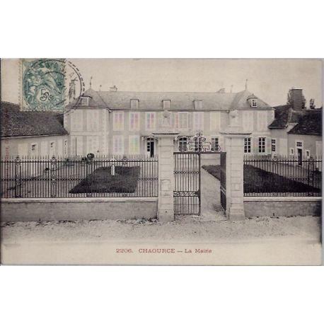 Carte postale 10 - Chaource - La Mairie - Voyage - Dos non divise...