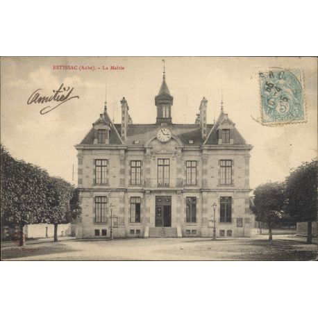 Carte postale 10 - Estissac - La mairie