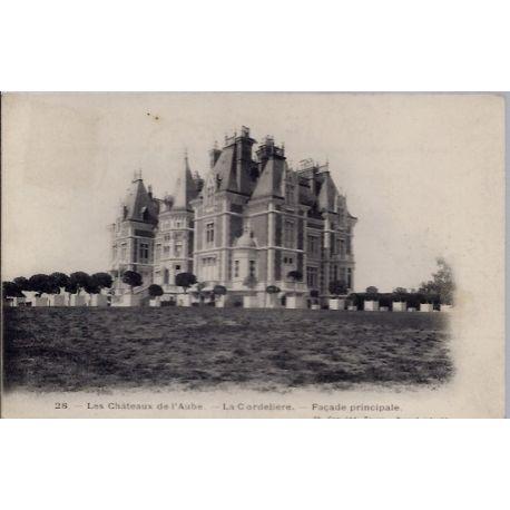 Carte postale 10 - La cordeliere, Cour d'honneur - Les chateaux de l'Aube - Voyage - Dos d...