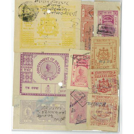 Bikaner - 10 verschiedene Briefmarken