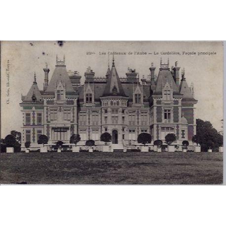 Carte postale 10 - La cordeliere, Facade principale - Les chateaux de l'Aube - Voyage - Do...