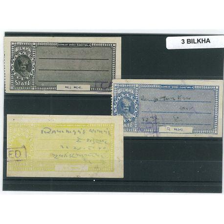 Bilkha - 3 verschiedene Briefmarken