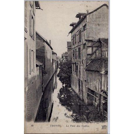 10 - Troyes - Le pont des Cailles - Voyage - Dos divise...