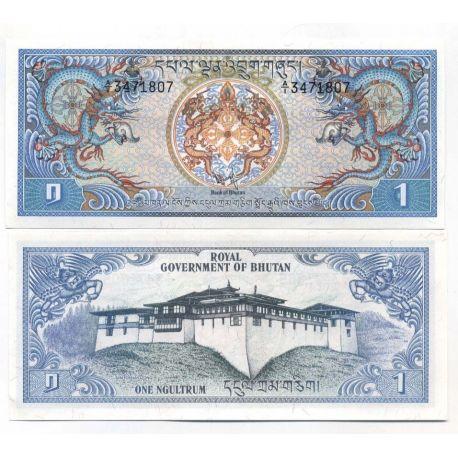 Billets de banque Bhoutan Pk N° 5 - 1 Ngultrum