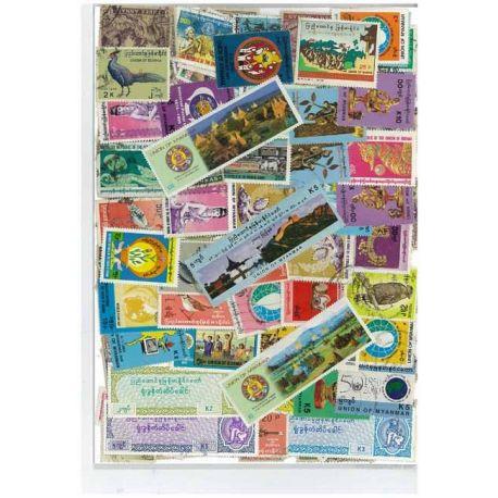 Birmanie - 25 timbres différents