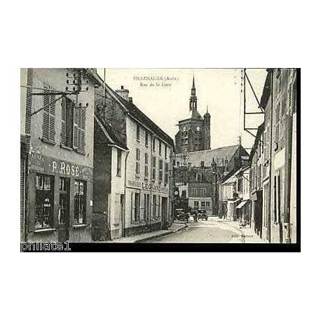 10 - Villenauxe - Rue de la gare - Voitures