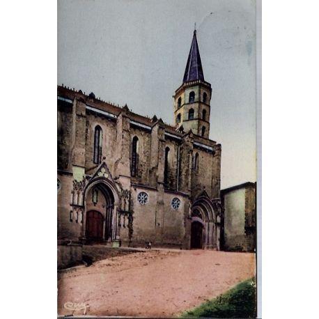 Carte postale 11 - Castelnaudary - L' eglise St-Michel - Voyage - Dos divise...