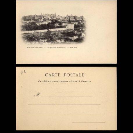 Carte postale 11 - Cite de Carcassonne - Vue prise au nord ouest