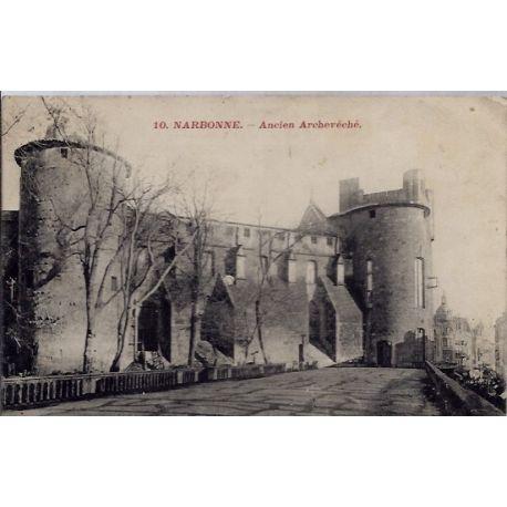 Carte postale 11 - Narbonne - Ancien Archeveche - Voyage - Dos divise...