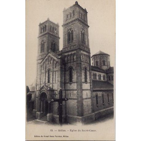 Carte postale 12 - Millau - Eglise du Sacre-Coeur - Non voyage - Dos non divise...