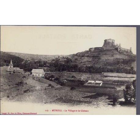 Carte postale 12 - Murols - Le village et le chateau - Non voyage - Dos divise
