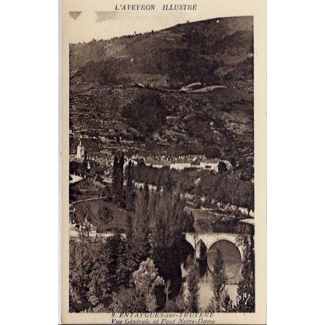Carte postale 12- Entaygues-sur-Truyere - Vue generale et pont Notre-Dame - Non voyage - D...
