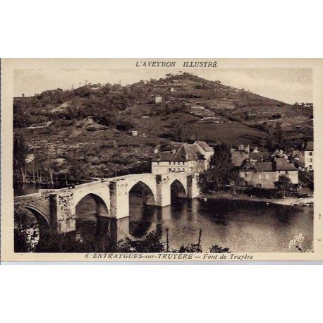 Carte postale 12- Entraygues-sur-Truyere - Font de Truyere - Non voyage - Dos divise...