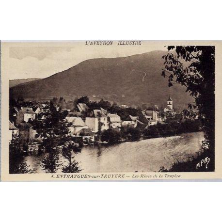 Carte postale 12- Entraygues-sur-Truyere - Les Rives de la Truyere - Non voyage - Dos divi...