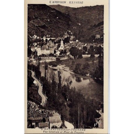 12- Entraygues-sur-Truyere - Vue generale et pont de Truyere - Non voyage - ...