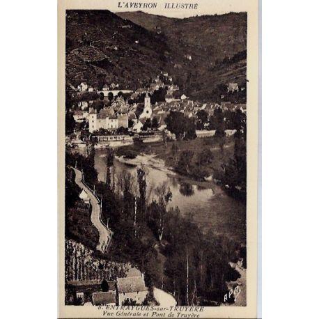 Carte postale 12- Entraygues-sur-Truyere - Vue generale et pont de Truyere - Non voyage - ...