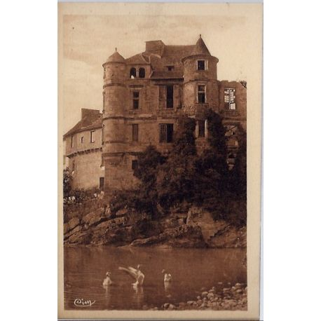 Carte postale 12- Espalion - Ancien Palais de Justice VIIIeme siecle- Non voyage - Dos di...