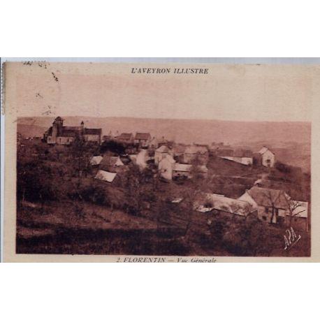 Carte postale 12- Florentin - Vue generale - Voyage - Dos divise...