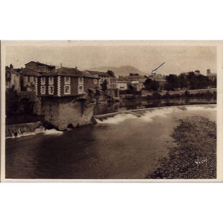 Carte postale 12- Millau - Le vieux moulin et le Tarn - Voyage - Dos divise...
