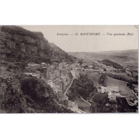 Carte postale 12- Roquefort - Vue generale Est - Non voyage - Dos divise...