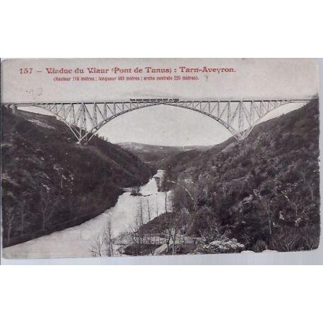 Carte postale 12- Viaduc du Viaur - Pont de Tanus -Tarn-Aveyron - Voyage - Dos divise...
