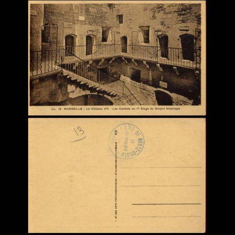 13 - Marseille - LE chateau d'If - Cachots du 1er etage