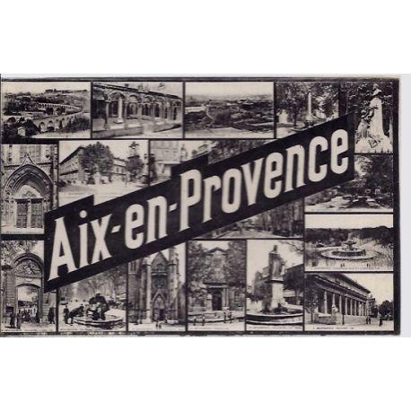 13 - Aix en provence - Differentes vues de la ville- Voyage - Dos divise...