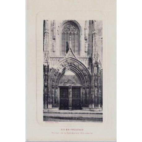 Carte postale 13 - Aix en provence - Portail de la cathedrale XVeme siecle - Non voyage - ...
