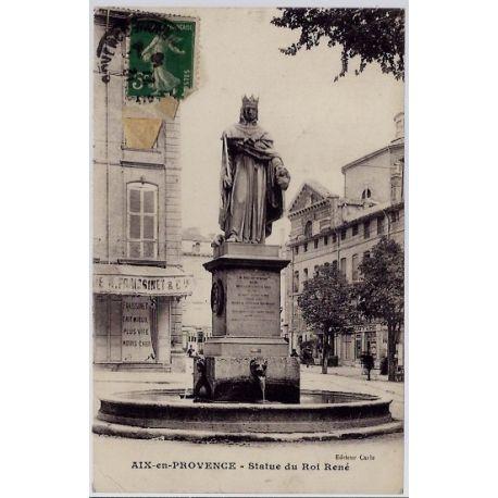 13 - Aix en provence - Statue du Roi Rene - Voyage - Dos divise...