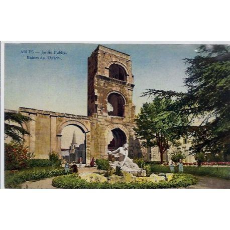 13 - Arles - Jardin public - Ruines du theatre - Voyage - Dos divise...