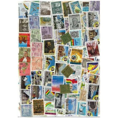 Collection de timbres Bolivie oblitérés