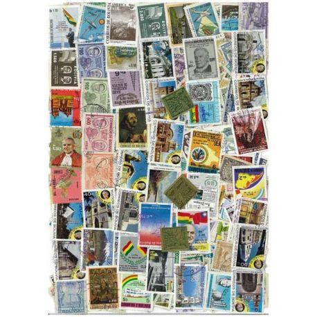 Bolivien - 25 verschiedene Briefmarken