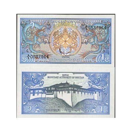 Bhoutan - Pk N° 12 - Billet de 1 Ngultrum