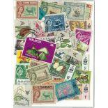 Colección de sellos Borneo y Sabah usados