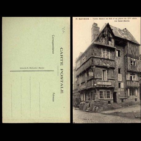 Carte postale 14 - Bayeux - Vieille maison rue Saint Martin