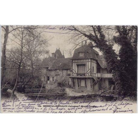 Carte postale 14 - Beuzeval-Houlgate - Moulin landry - Voyage - Dos divise...