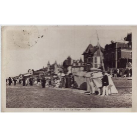 Carte postale 14 - Blonville - La plage - Voyage - Dos divise...