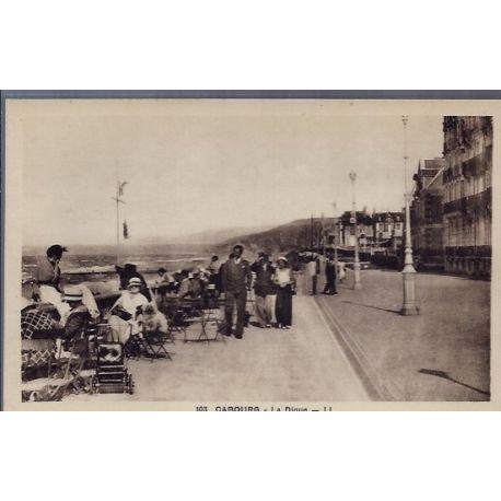 Carte postale 14 - Cabourg - La digue - Non voyage - Dos divise...
