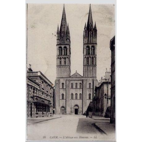 Carte postale 14 - Caen - L ' Abbaye aux Hommes - Voyage - Dos divise...